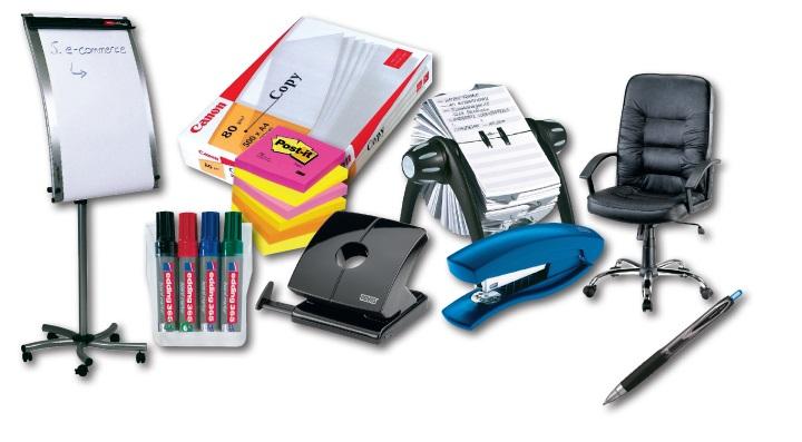 Kancelárske potreby účtované ako zásoby v jednoduchom účtovníctve.