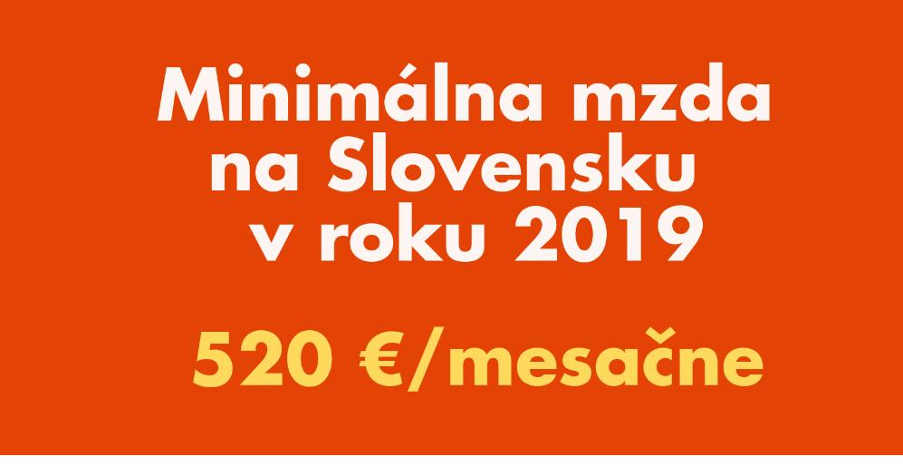 minimalna mzda na slovensku v orku 2019